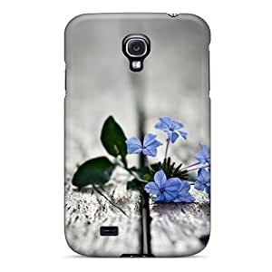 Special Design Back Small Blue Flowers Loss Memory Phone Case Cover For Galaxy S4