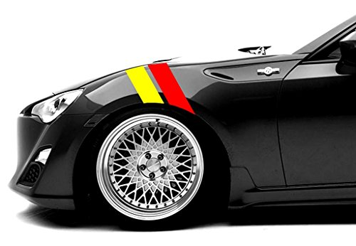 Driver Racing Decal - Scion FR-S and TC Fender Hash Mark Bars Vinyl Racing Stripes Grand Sport Graphic Decals 4