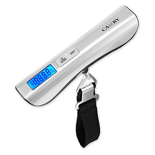 Camry Digital Luggage Scale 110lbs / 50kgs Large and Blue Backlight LCD...
