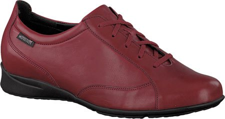 Mephisto Womens Valentina Leather Shoes Oxblood