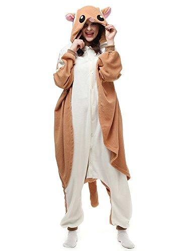 Unisex Aduit Flying Squirrel Pajamas- Plush One Piece