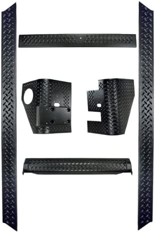 Rugged Ridge 11651.50 Black Diamond Plate Body Armor Kit