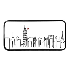 """New York City Sky Line Theme Case for iPhone 6 Plus (5.5"""") PC Material Black by runtopwell"""