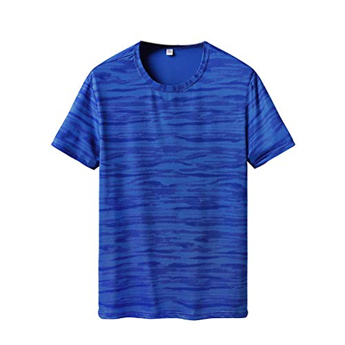 HULKAY Short Sleeve T-Shirts for Men丨Summer Casual Printing Fitness Sport  Tees丨 c1d2cf58703c