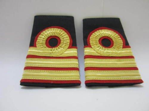 Atlantic Maritime -Marine Navy Naval Ship Caption/Officer 3Gold Strips Shoulder Board/Epaulettes from Atlantic