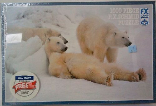 F. X. Schmid 1000 Piece Puzzle Bad Boys of the Arctic - Polar Bear Photograph by F.X. Schmid