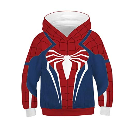 Tsyllyp Children Spiderman Velocity Suit Boys Girls Hoodies Sweatshirts Costume