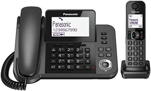 Panasonic KX-TGF310 – Teléfono Fijo Inalámbrico con Supletorio Portátil (2 en 1, LCD, Teclas Grandes, Agenda de 100…