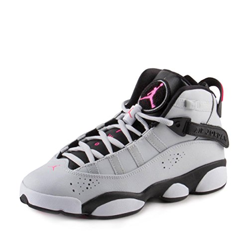 Jordan 6 RINGS GG boys basketball-shoes 323399-009_6.5Y - Pure Platinum/Hyper Pink-black by Jordan