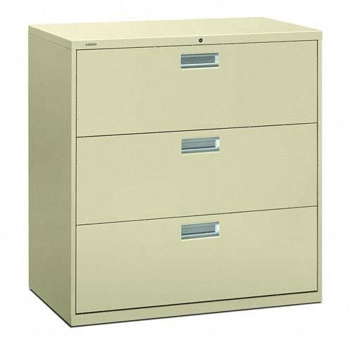 HON 600 Series 42 Inch Three Drawer Lateral File by HON