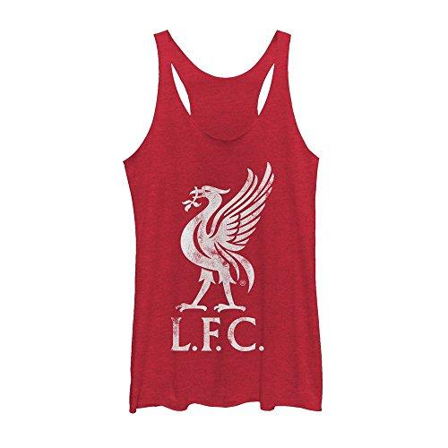 Liverpool Football Club Women's Bird Logo Red Heather Racerback Tank Top
