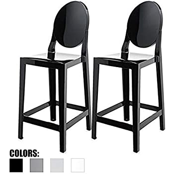 Amazon Com 2xhome Set Of Two 2 Black 30 Quot Seat