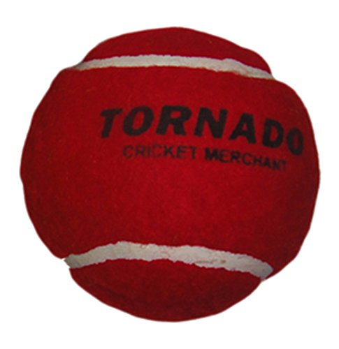 Tornado Heavy Cricket Tennis Ball - Pack of 6 (Red)
