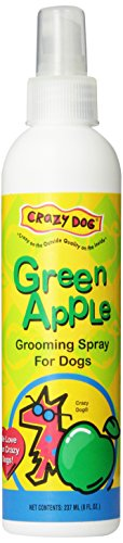 Crazy Dog Grooming Spray 8oz Green Apple