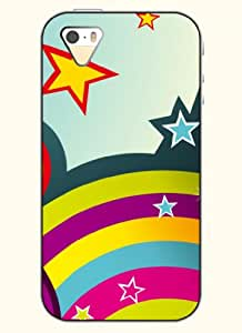 OOFIT Phone Case Design with Multicolored Star for Apple iPhone 5 5s 5g