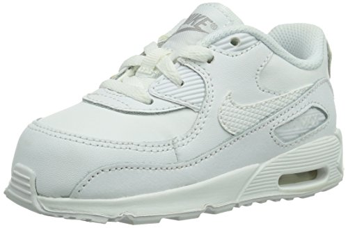 Nike Toddlers Air Max 90 (TD) White/Wolf Grey Running Shoe 8 Infants US ()