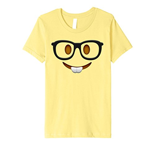[Kids Nerd Halloween Group Emoji Costume Shirt 10 Lemon] (Nerd Halloween Costumes For Girls Kids)