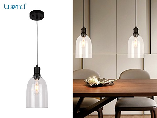 Large Glass Pendant Light Shade - 3