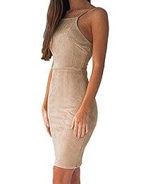 YACUN Women's Lace Up Bodycon Mini Slip Party Dress