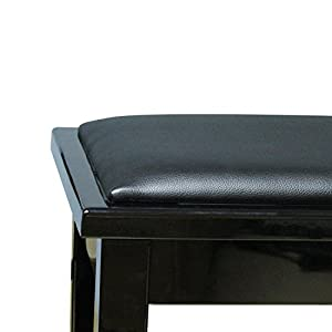 Flanger Adjustable Artist Piano Bench Ebony