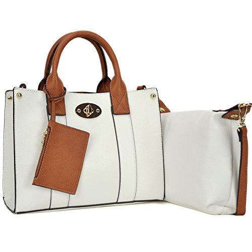 Women Handbag 3 Pieces Set Leather Shoulder Bag Satchel Purse 3 in 1 Simple Design - Leather One Shoulder Handbag
