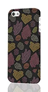 Rock & Mineral Pattern Pattern Image - Protective 3d Rough Case Cover - Hard Plastic 3D Case - For iPhone 5 5S
