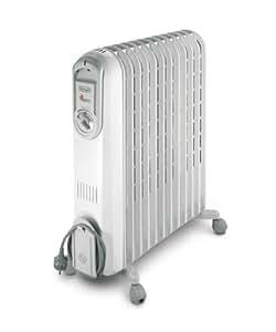 DeLonghi V551225 - Radiador de aceite, 2500 W, color gris claro