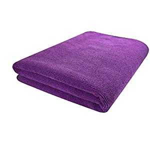 SOFTSPUN Microfiber Bath & Hair Care Towel Set of 1 Piece, 60×120 Cms, 340 GSM (Grey). Super Soft & Comfortable, Quick…
