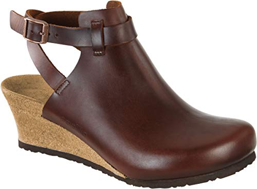 Birkenstock Women's Esra Cognac Leather Clog 39 (US Women's 8-8.5) (Clogs Professional Birkenstock)