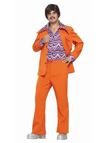 Forum Novelties Men's 70's Leisure Suit Costume, Orange, Standard -