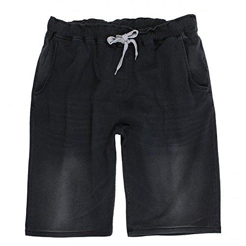 Herren Shorts in Übergröße von Lavecchia stone-washed mit Tunnelzug von 3XL bis 8XL
