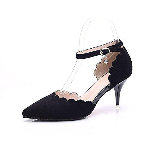 Fersen Heels t tape Frauen Wildleder 8cm Heels Heels Spitzen Sexy gürtel schuhe Profi High ein wort Fashion Bbdsj High Womens q81S7XwS