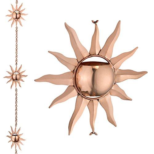 Good Directions 470P-8 Sunburst Pure Copper 8.5' Rain Chain