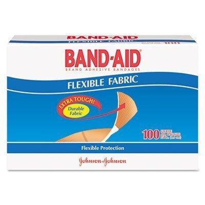 3' Fabric Bandage (Flexible Fabric Premium Adhesive Bandages, 3/4'' x 3'', 100/Box by Band-Aid)