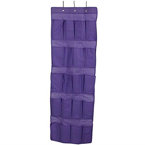 24 hanging pocket door hanging bag folding shoe rack hanger - 4
