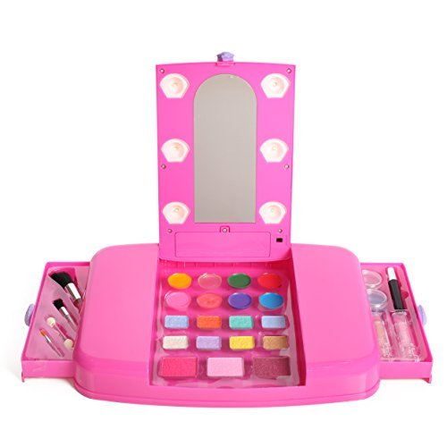 IQ Toys Little Fairy Princess Beauty Star Lit Up Vanity Cosmetic Set with Mirror