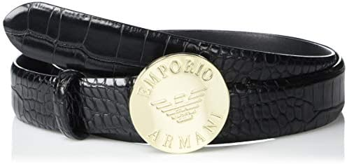 Emporio Armani Women`s Embossed Leather Belt