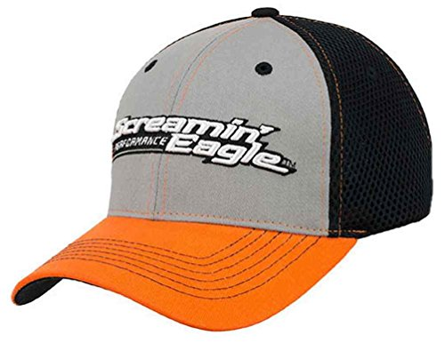 Harley-Davidson Men's Screamin' Eagle Pit Crew Flex Cap HARLMH0304 (L/XL) (Eagle Harley Screamin)