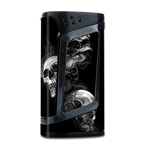 Skin Decal Vinyl Wrap for Smok Alien 220w TC Vape Mod stickers skins cover/ glowing Skulls in Smoke