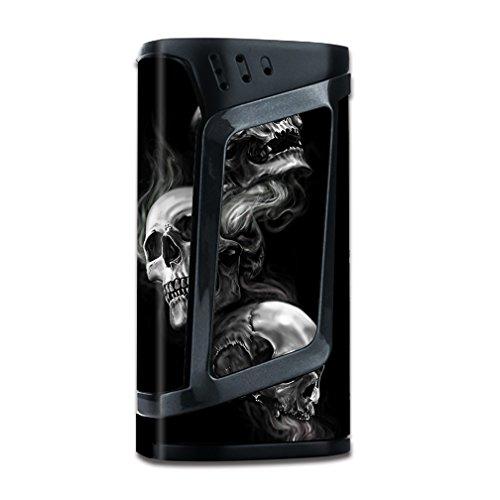 Skin Decal Vinyl Wrap for Smok Alien 220w TC Vape Mod stickers skins cover/ glowing Skulls in Smoke