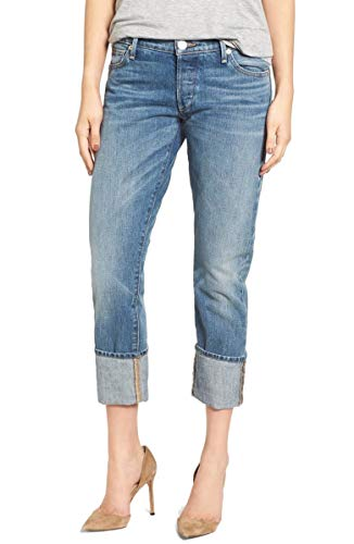 True Religion Women's Liv DJ Blues Wash Relaxed Cuff Jeans Blue 28