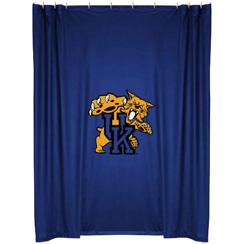 Kentucky Wildcats COMBO Shower Curtain, 4 Pc Towel Set & 1 Window Valance/Drape Set (84 inch Drape Length) - Decorate your Bathroom & SAVE ON BUNDLING! by Sports Coverage