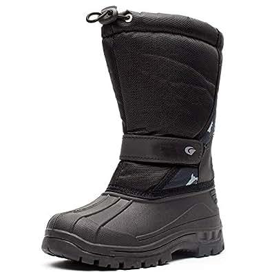 Amazon.com | S-BAO Kids Winter Snow Boots Boys Girls