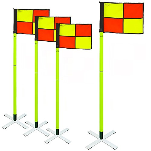 AGORA Pro Line Soccer Indoor/Turf Corner Flags - Set of 4