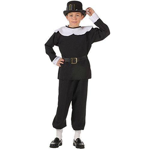 [RG Costumes Pilgrim Boy Costume, Black/White, Small] (Fun Couple Costume Ideas)