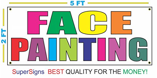 New FACE PAINTING Multi Colors Banner Sign 2x5 for Fair Carnival hot sale