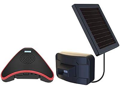 HTZSAFE Solar Wireless Driveway Alarm System-1/2 Mile Long Transmission Range-Solar Powered No Need Replace Batteries-Outdoor Weatherproof Motion Sensor&Detector-DIY Security Alert System