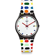 Swatch Women's Originals GM417 Black Plastic Swiss Quartz Fashion Watch