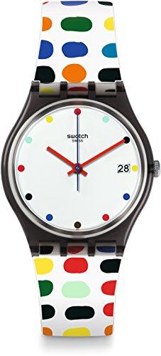 Swatch Women's Originals GM417 Black Plastic Swiss Quartz Fashion Watch