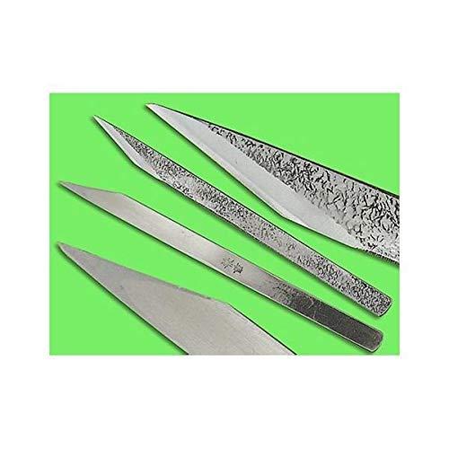 3/8'' Left Handed Blue Steel Woodworking Knife (Kogatana)